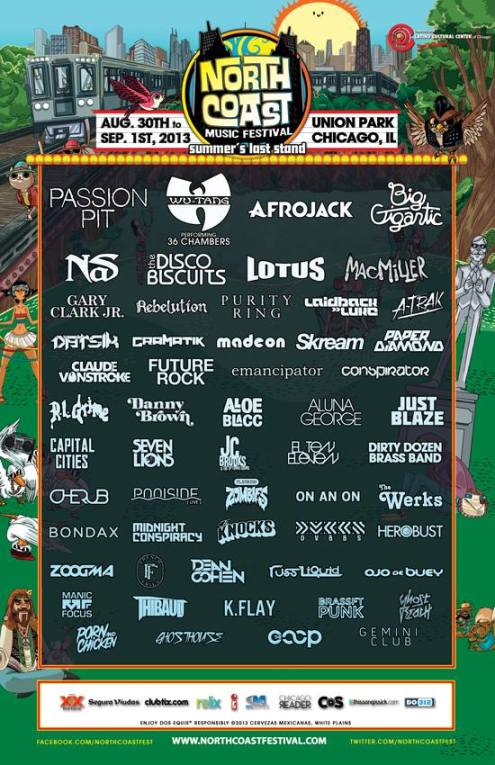 Northcoast 2013 3rd wave of artist additions