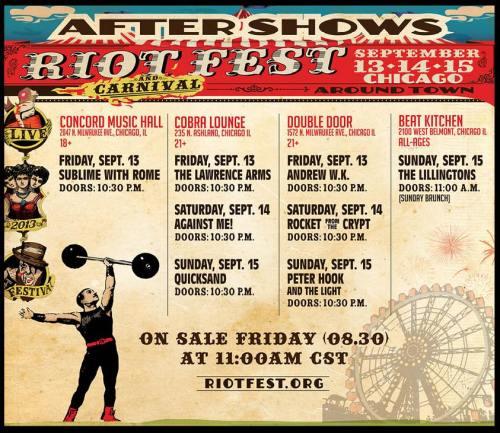 Riot Fest '13 After Shows