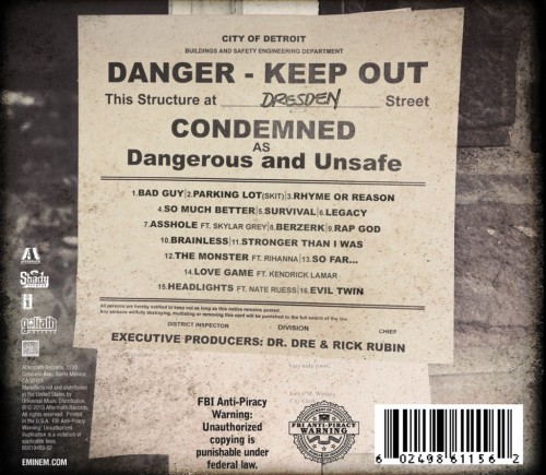 Marshall Mathers LP 2 Tracklist