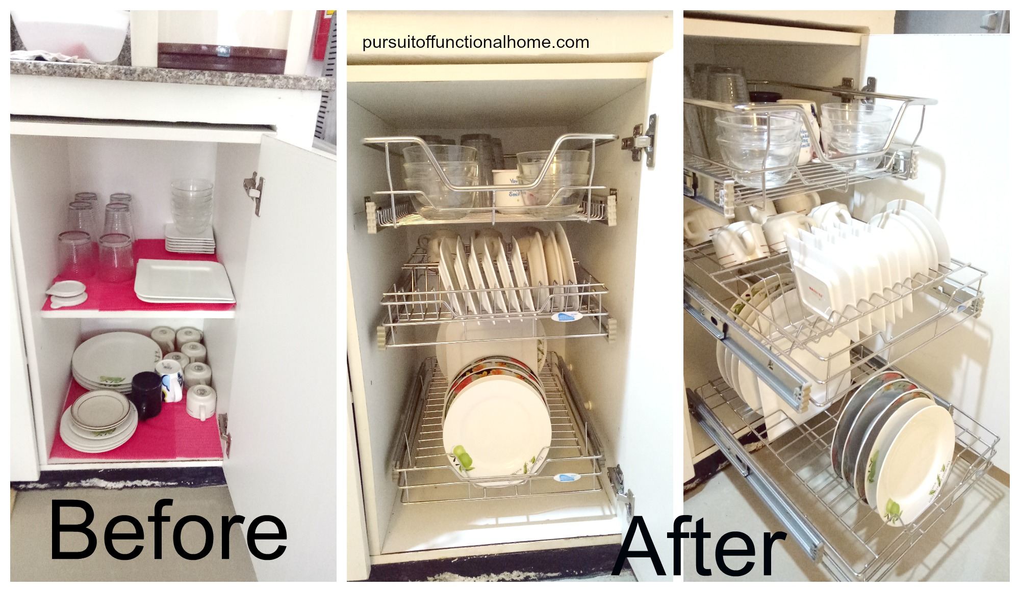 kitchen cabinets organizers ikea metal shelves pull out wire rack  pursuit of functional home