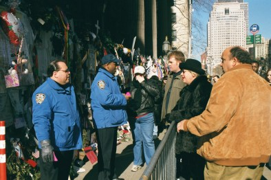 Y Yoga Movie prod still police and people ground zero