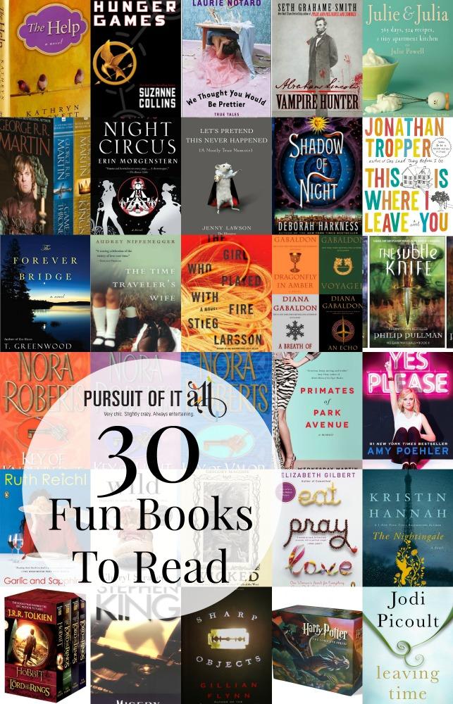 30 Fun Books To Read!