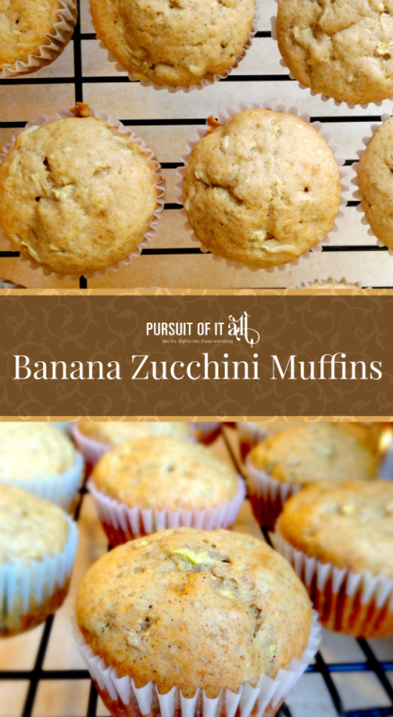 These banana zucchini muffins are easy to make and so yummy!