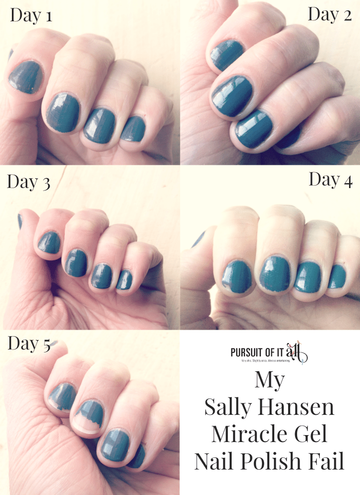 My Sally Hansen Miracle Gel Polish Fail - Pursuit of it All