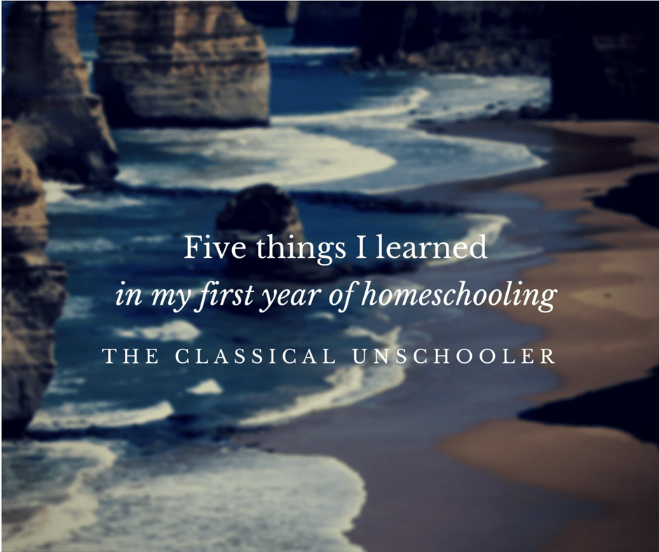 Five Things I Learned in my First Year of Homeschooling