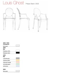 Chairs: Kartell Louis Ghost Chair