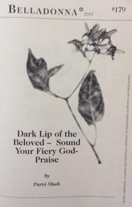 Dark Lip of the Beloved -- Sound Your Fiery God-Praise