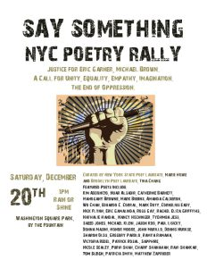 NYC Poetry Rally for Justice