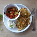 Gemüse-Patties mit Hüttenkäse