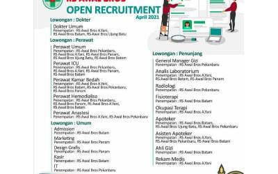 OPEN RECRUITMENT RS AWAL BROS APRIL 2021