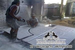 Proses Pembuatan Lantai Motif Marmer Tulungagung