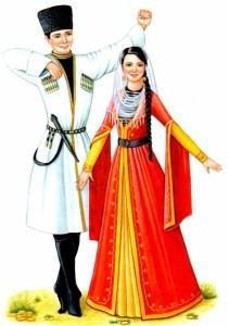 Чеченцы национальный костюм
