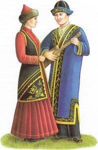 Казахи национальный костюм