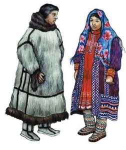 Манси и Ханты национальный костюм