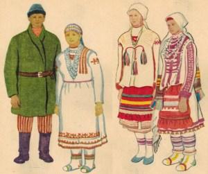 Удмурты национальный костюм