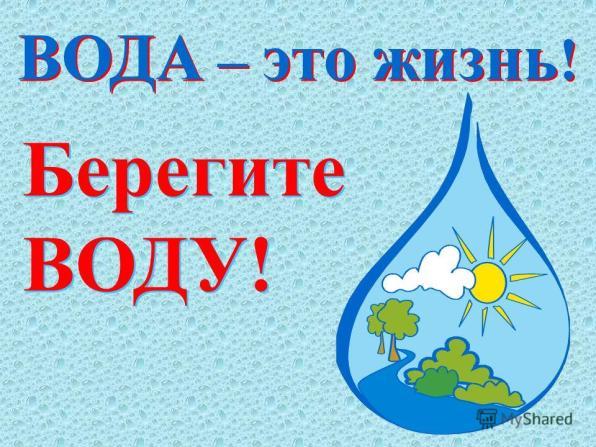 Плакат Берегите воду