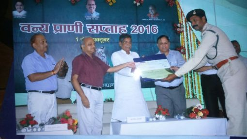 Amar Singh Receiving State Award