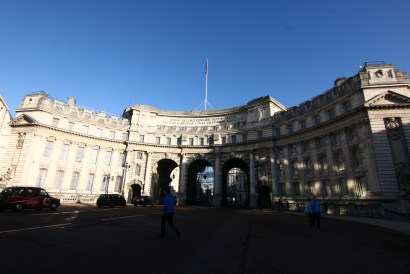 The Admiralty Arch - connecting Buckingham Palace to Trafalgar
