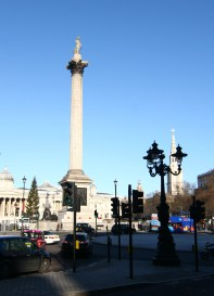 The statue of Nelson - at Trafalgar Square