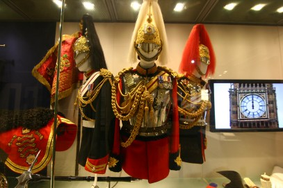 The highly decorated uniforms of the cavalry soldiers