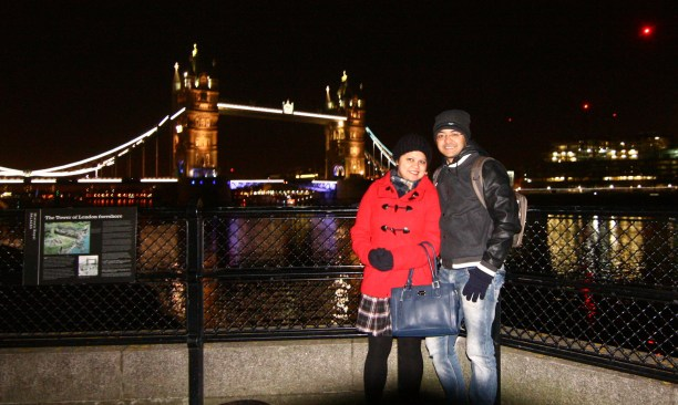 Us in front of the Tower Bridge