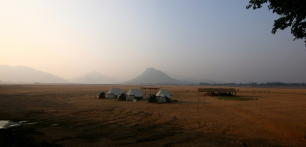 Satkosia Sands Resorts on Mahanadi river bed