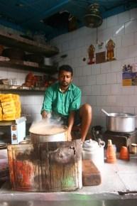 Tea being prepared