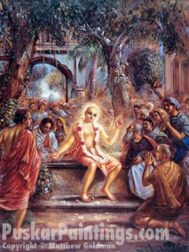 Lord Chaitanya preaches after accepting sannyas