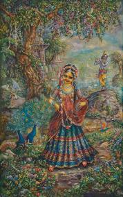Radha Krishna - Radharani experiences ecstacy upon hearing Krishna's flute