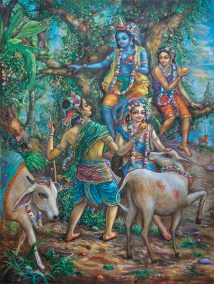 [K65] Krishna and cowherd boys taste fruit while playing in the forest