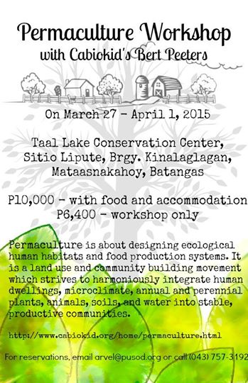 Permaculture Workshop with Bert Peeters!