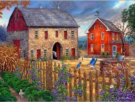 Fall Coastal Desktop Wallpaper Cottages Et Villages En Peinture
