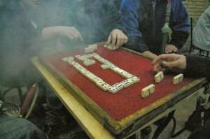 Kahire'de en sevilen oyun domino