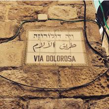 Kudüs'te Hz.İsanın yürüdüğü via Dolarosa