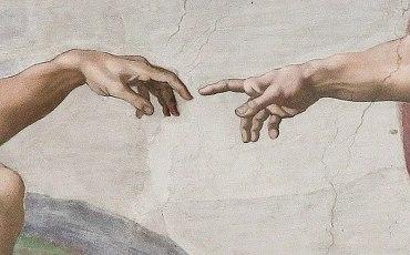 Michelangelo'nun Tanrı' anın eli olarak bilinen resminin detayı