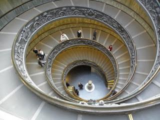 bu sarmal merdiven dünyanın en meşhur merdivenlerinden biridir. çıkışında illa buradan geçilir.