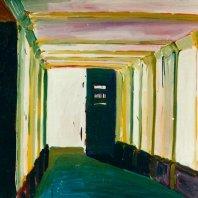 Toreinfahrt (doorway),  1990, oil on nettlecloth, 125 x 150