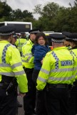 One of the activists being arrested