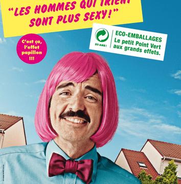 Monsieur Papillon hros de lEcoEmballage CatridgeWorld Puteaux