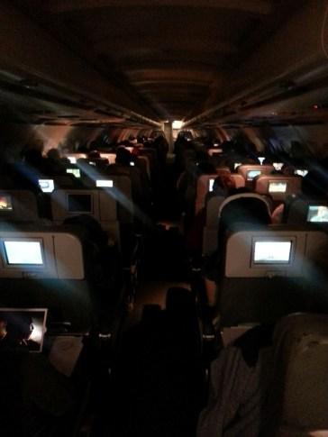 Ambiance cosy dans le bus. Enfin l'A320.