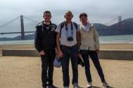 Photo de famille devant le Golden Gate