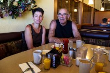 Petit déjeuner lundi dans un vrai Diner américain