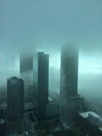 Foggy day vu depuis l'appart