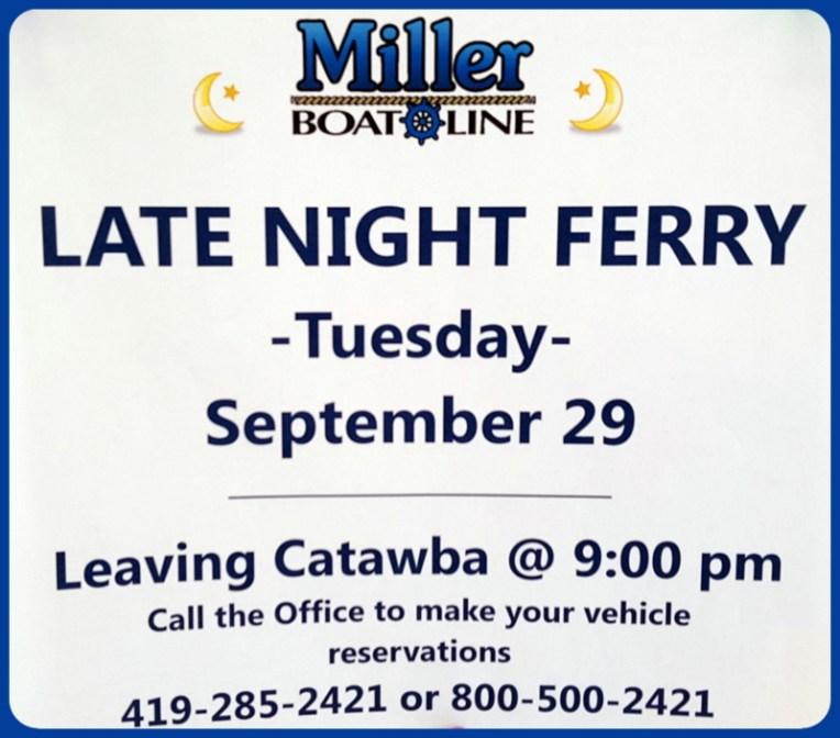 Miller Ferry Put in Bay