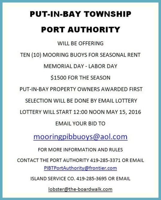 Mooring buoys Put in Bay