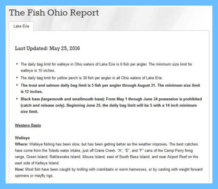 Lake Erie Fish Report