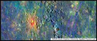 Spectometry photo by NASA Messenger spacecraft