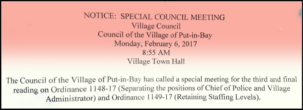 Put in Bay Village Council