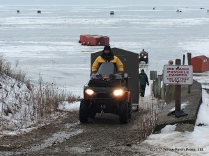 Put in Bay ice shanty
