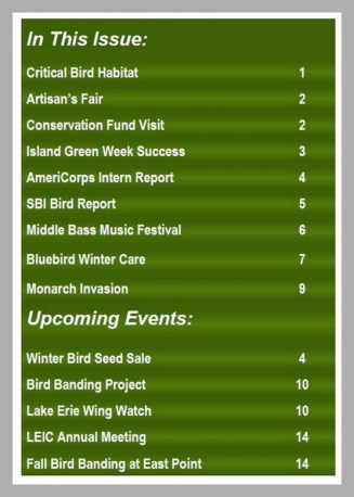 Lake Erie Islands Conservancy Newsletter